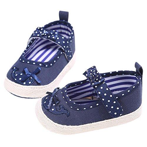 Hankyky Baby Kind Mädchen Junge Anti Skid Weiche Sohle Lauflernschuhe Sneaker Krippeschuhe Kleinkind Schuhe Canvas (0 ~ 18 Monate) B