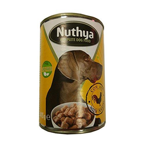 NUTHYA - Lata Comida para Perros 1,24 Kg de bocados con Carne...