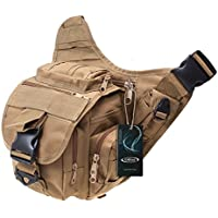 S-ZONE 600D poliestere Molle tattico Tracolla sacchetto militare spinta della cinghia del pacchetto dello zaino del sacchetto di viaggio Camera Utility denaro Marsupio Bum Daypack Versipack