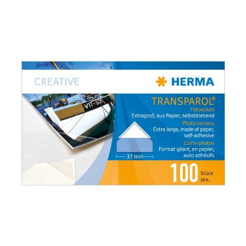 Preisvergleich Produktbild Herma Transparol Fotoecken,  extra groß,  2er-Streifen,  100 St.,  1302