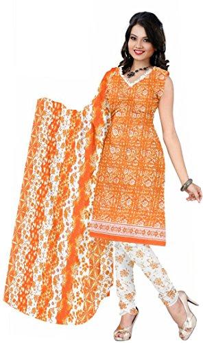Justkartit Printed Stylish Cotton Salwar Kameez Pakistani Suits Dress Material (Unstitched)