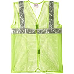 "Aarvee Safety Jacket 2"" Reflective Tape Green Cloth 50 gsm (Pack of 1)"