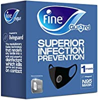 Fine Guard N95 face mask with Livinguard Technology, infection prevention, washable up to 30 times