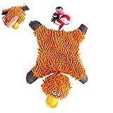 Pet quietschende Spielzeug-Plüsch-quietschendes Hundespielzeug mit Seil Ball für Haustiere Hunde Welpen Zahnen 1pc Hot Orange