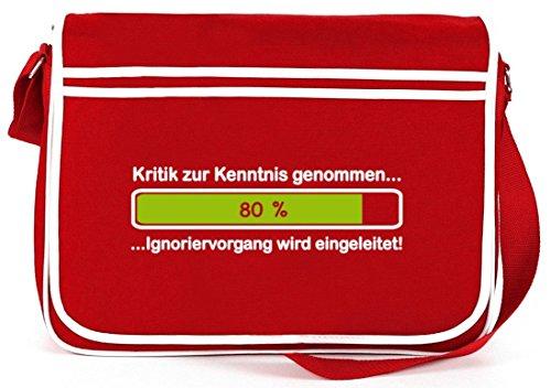 La Critica Ha Notato ..., Borsa A Tracolla Messenger Bag A Tracolla Retro Rossa