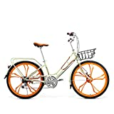 Huoduoduo Fahrrad, City Bike, 26-Zoll-7-Gang-High-Carbon-Stahl, Aluminiumlegierung Doppelschicht Auto Kreis, Galvanik Verdickt Hinteren Rahmen, Anti-Rutsch-Reifen