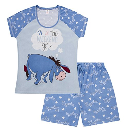 Disney Eeyore is It The Weekend Yet ? Short Ladies Women's Pyjamas Pjs