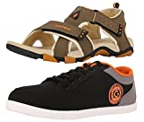 #7: Lotto Mens's Combo Of Sandal & Globalite Casual Shoes GT7076_338SP
