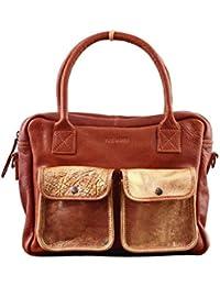 LE DANDY Naturel Doré sac bandoulière cuir style vintage PAUL MARIUS