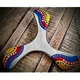 Boomerang Wankura per i principianti per adulti, dipinto a mano su legno