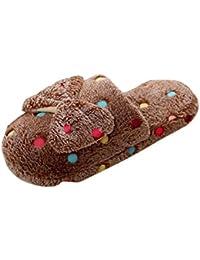 Zapatillas para mujer Zapatos de mujer Invierno Interior Casa Casual Piel sintética Calentar Antideslizante Zapatillas LMMVP