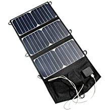 Generic NEW 21W 5V Folding Solar Panel Charger Portable Dual USB Output High Efficiency Sunpower Solar Panel for Cellphone 5V Device