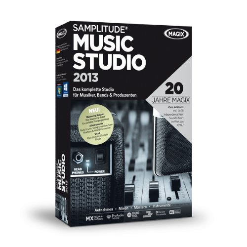 Samplitude® Music Studio 2013 (Jubiläumsaktion inkl. 12 GB Independence Basic Sound Library)
