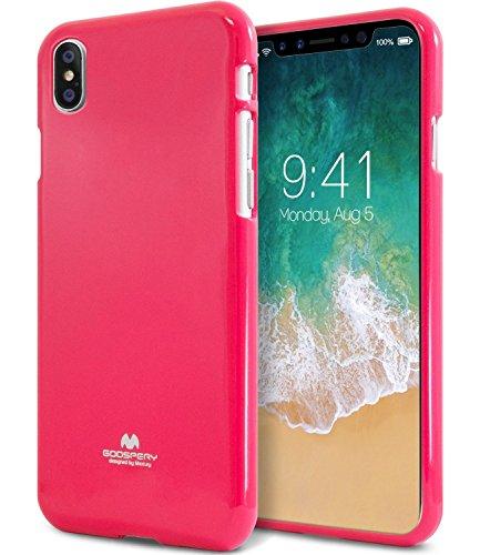 Funda color rosa para teléfono iPhone X