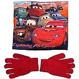 Cars Disney 3 Kollektion 2017 Snood Schlauchschal Schal und Handschuhe 3-7 Jahre One Size Loop Kragenschal mit Fleecefutter Lightning McQueen (3-7 Jahre; One Size; Prime)
