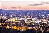 Poster 91 x 61 cm: Skyline Stuttgart von Dieterich