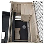 Elegant Indoor Wooden Hutch With Two Levels - Suitable For Small Rabbit Breeds And Guineapigs, With A Chic Design And… 9