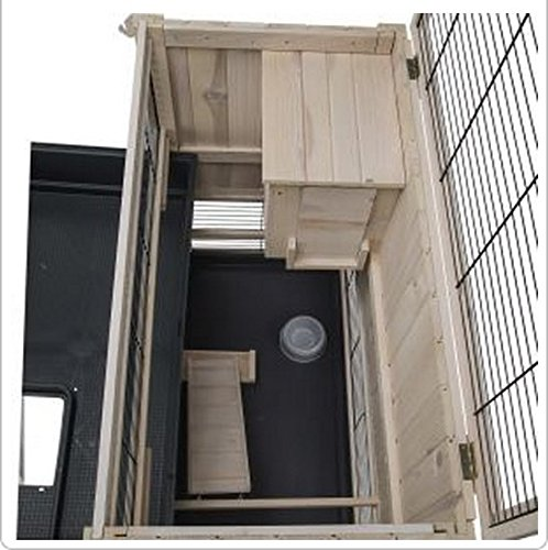 Elegant Indoor Wooden Hutch With Two Levels - Suitable For Small Rabbit Breeds And Guineapigs, With A Chic Design And… 3
