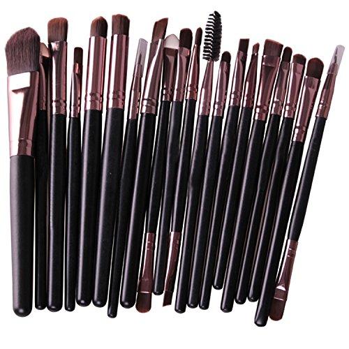 Vococal® 20Pcs Makeup Brushes Set Fard à Paupières Lèvres Eyeliner Pinceau Rose Golden