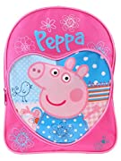 Zaino di Peppa Pig per bambine. Grazioso zaino di colore rosa di Peppa Pig ideale per andare a scuola o per uscire. Questa adorabile borsa ha una tasca principale con cerniera lampo e una pratica tasca frontale. Con una stampa di Peppa Pig ci...