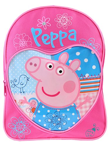 Peppa Pig Backpack Love Heart Children's Rucksack Junior School Bag Pink Blue