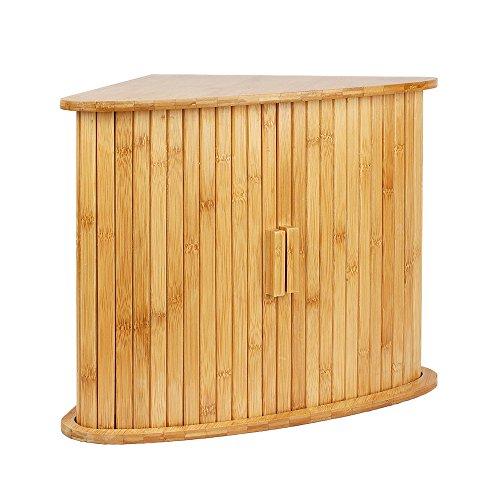 Woodluv - Mobiletto angolare multiuso da cucina, in bambù, a due ...