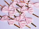 Funcoo Drahtverschluss mit Deko-Schleife, niedliches Design, für Lollis, Cellophanverpackungen, Backwaren usw., 100Stück rose