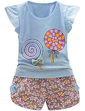 Covermason Kinder Baby Mädchen T-Shirt Tops + Shorts 2PCS/SET