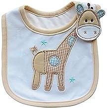 westeng 1pc bebé algodón alimentación baberos Lovely Cute dibujos animados patrón de bebé toalla de saliva baberos