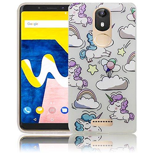 Wiko View Lite Passend Einhorn Baby süße Handy-Hülle Silikon - staubdicht, stoßfest & leicht - Smartphone-Case