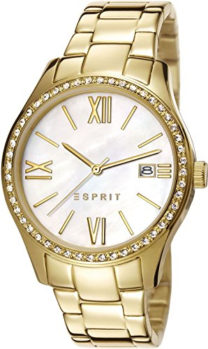 Esprit Damen-Armbanduhr Paige Analog Quarz Edelstahl ES107772002