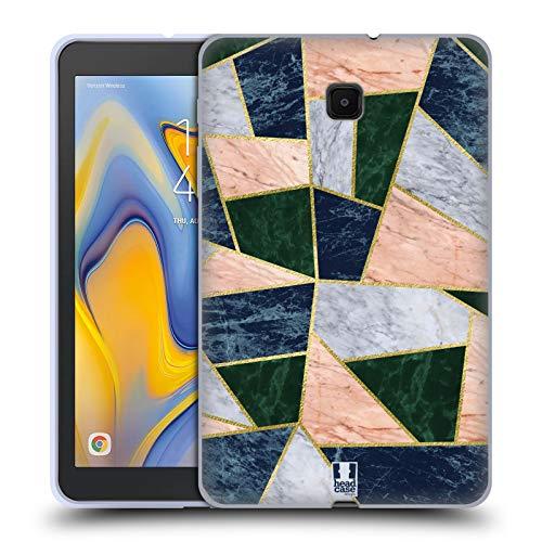 Head Case Designs Schildkrötenpanzer Geometrische Marbel Soft Gel Huelle kompatibel mit Galaxy Tab A 8.0 (2018)