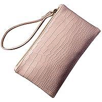 BIGBOBA Mujer Elegante Mini monedas de piel tipo monedero bolso de la bolsa Holder bolsa de almacenamiento Tamaño pequeño para llaves móvil tarjeta de pintalabios 19,5* 11,5cm
