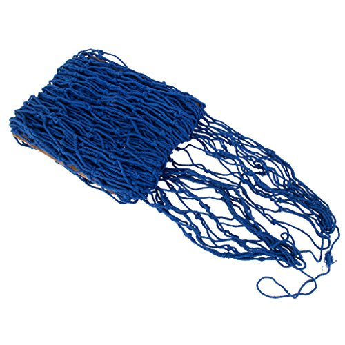 1x Deko Fischernetz Natur Maritime Dekor Baumwolle Blau