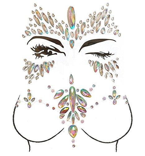 kleber Waterproof Body Jewel Aufkleber für Gesicht Brust ()