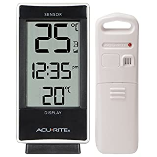 AcuRite 77009EM Digital Thermometer with Indoor and Outdoor Temperature
