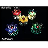 ShopKooky LED Flower Special Diya (Pack Of 12) | Specially Designed For Navratri Diwali Lighting Festivals And Many Happy Occasions | Best For Gifting Purpose And Most Suitable For Night Decorations | Designer Attractive And Stylish | Return Gift | Gifts