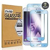 Owbb [2 Pièces] Bleu Protecteur D'écran en Verre Trempé pour Samsung Galaxy A5...