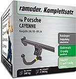RAMEDER Komplettsatz, Anhängerkupplung abnehmbar + 13pol Elektrik für Porsche CAYENNE (123509-08741-1)