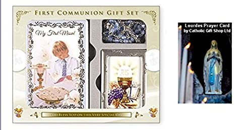 Boys First Holy Communion Gift Set, with Missal, Rosary & Photo Frame