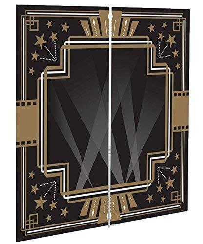 rz Gold Vintage Hollywood 1920s Jahre Art Déco Glitz Glänzender Scene Setter Partei Wand Dekoration Hintergrund Selfie Bahnhof Fotokabine ()