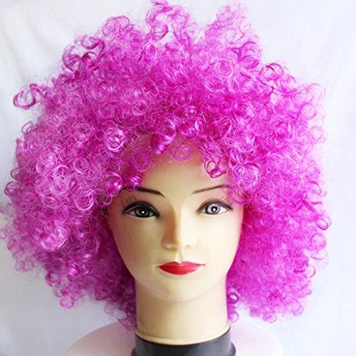 Farbe Explosion Kopf Clown COSPLAY Haarbedeckung ( Farbe : Lila ) (Tun Halloween Zombie Make-up)