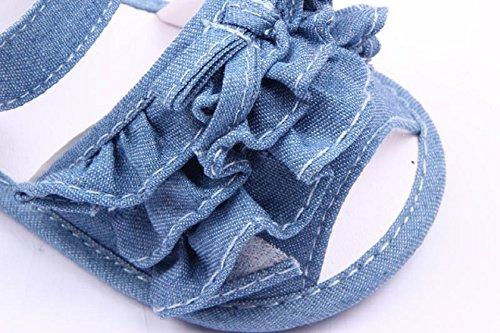 Culater® Bambino Antiscivolo Scarpe Sandalo Estivo Bambino Scarpe Primi Camminatori Tela Azzurro