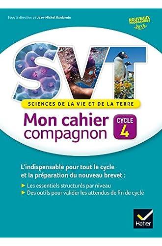 SVT cycle 4 éd. 2016 Mon cahier compagnon