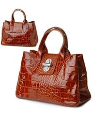 IO.IO.MIO Borsetta per le Icone® , Sac à main pour femme Marron Cognac 36,5x24x18 cm