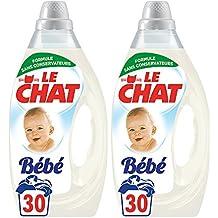 Le Chat Bébé - Lessive Liquide - Lot de 2 x 1,6L - 60 Lavages