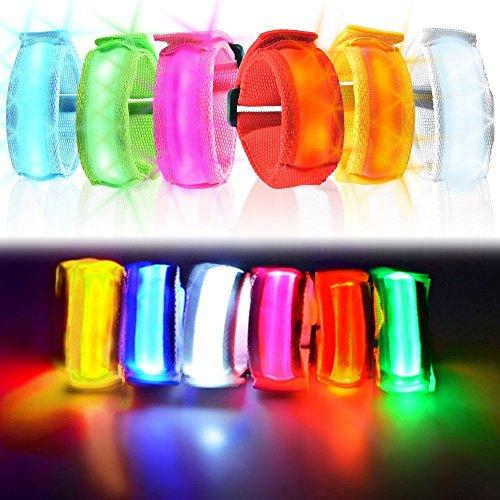 German Trendseller® - LED Armband ┃ Schulweg ┃ Kindergeburtstag ┃ Sicherheitslicht im Straßenverkehr
