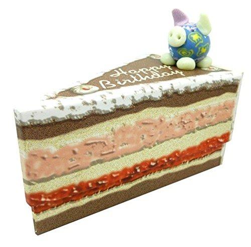 Geschenkschachtel mit Glücksschweinchen 'Happy birthday'