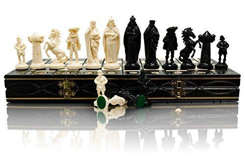 Mittelalterliche Schachfigur aus Holz und Holz, 40x40cm & Kunststoffteile