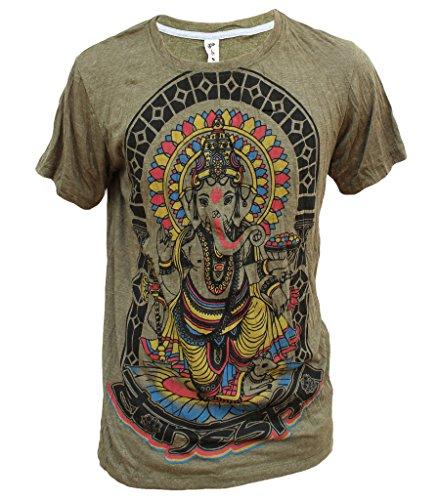 Yoga Shirts - Omtimistic hommes hindou Ganesh 'D'éléphant Dieu & Symbole de l'OM' T-Shirt